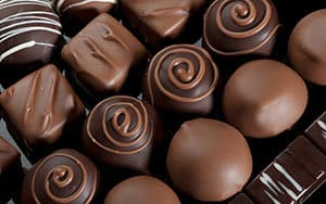 chocolates - bad to eat before bed