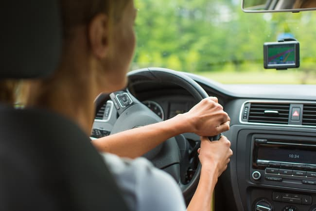 photo of a woman driving