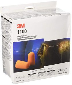 3m 1100 foam earplugs