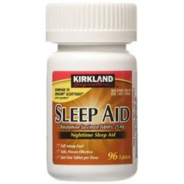 photo of a bottle of over the counter sleeping pills