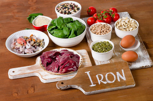 photo of different food rich in iron
