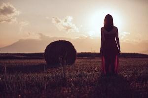 a woman dreaming