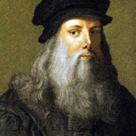 image of leonardo da vinci who was a famous short sleeper