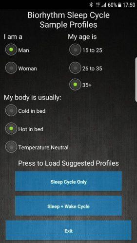 screenshot of the bedjet app screen 2