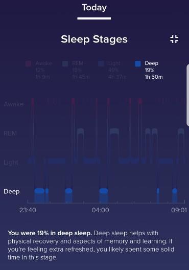deep sleep stage screenshot
