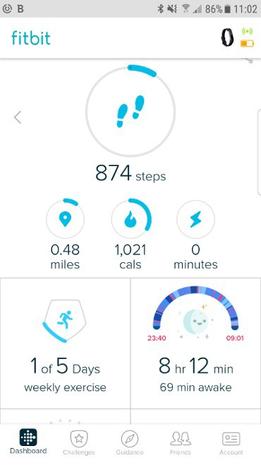 fitbit app page 1 screenshot