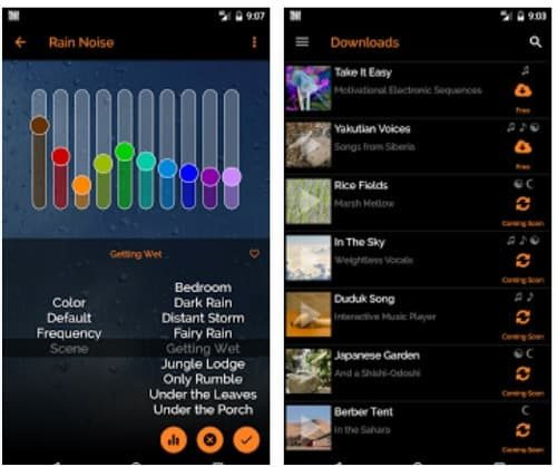screenshot of the MyNoise App