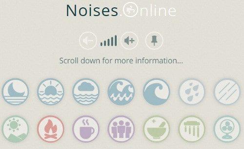 noises.online website screenshot