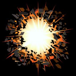 image of an explosion to represent exploding head syndrome