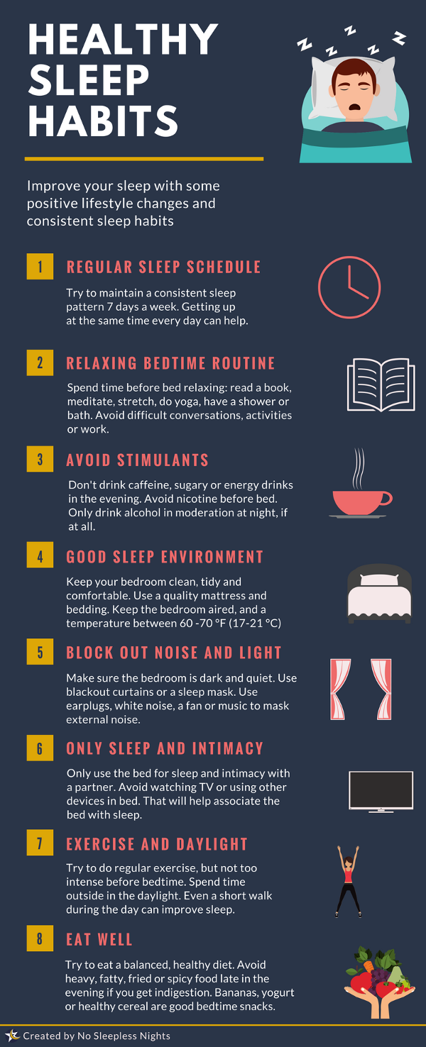 sleep hygiene infographic