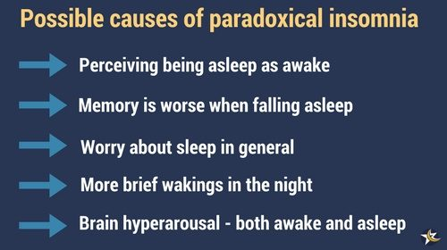 paradoxical insomnia causes infographic