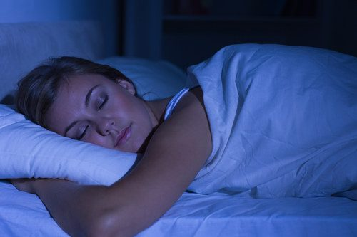 photo of a woman sleeping peacefully