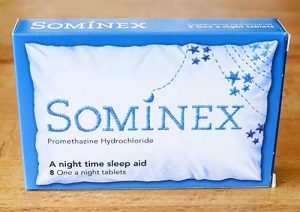 sominex anti-histamine sleep aid package