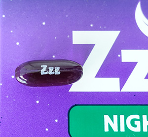 photo of one of the zzzquil liquicaps that I took