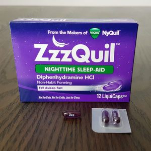 photo of the zzzquil I bought to test for my review