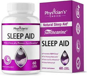 physician's choice sleep aid with suntheanine, melatonin, chamomile and valerian