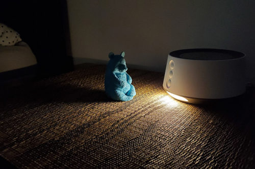 photo of the letsfit baby night light working in the dark