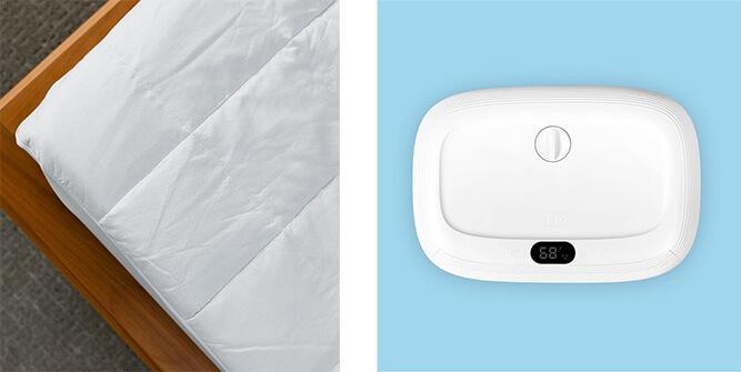 cooling mattress pad and fan