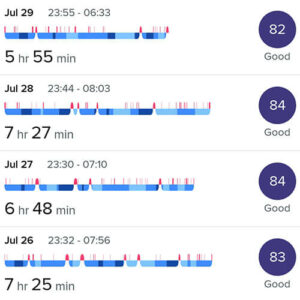 sleep tracking during four months without alcohol and sugar